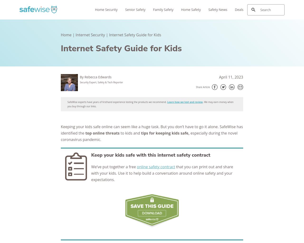 Internet Safety Kid for Kids