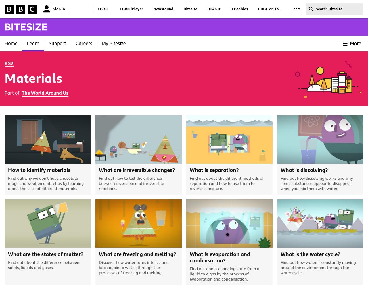BBC - Materials