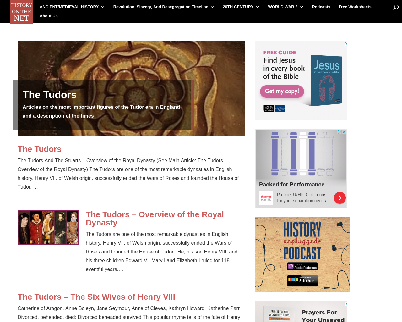 The Tudors: History on the Net