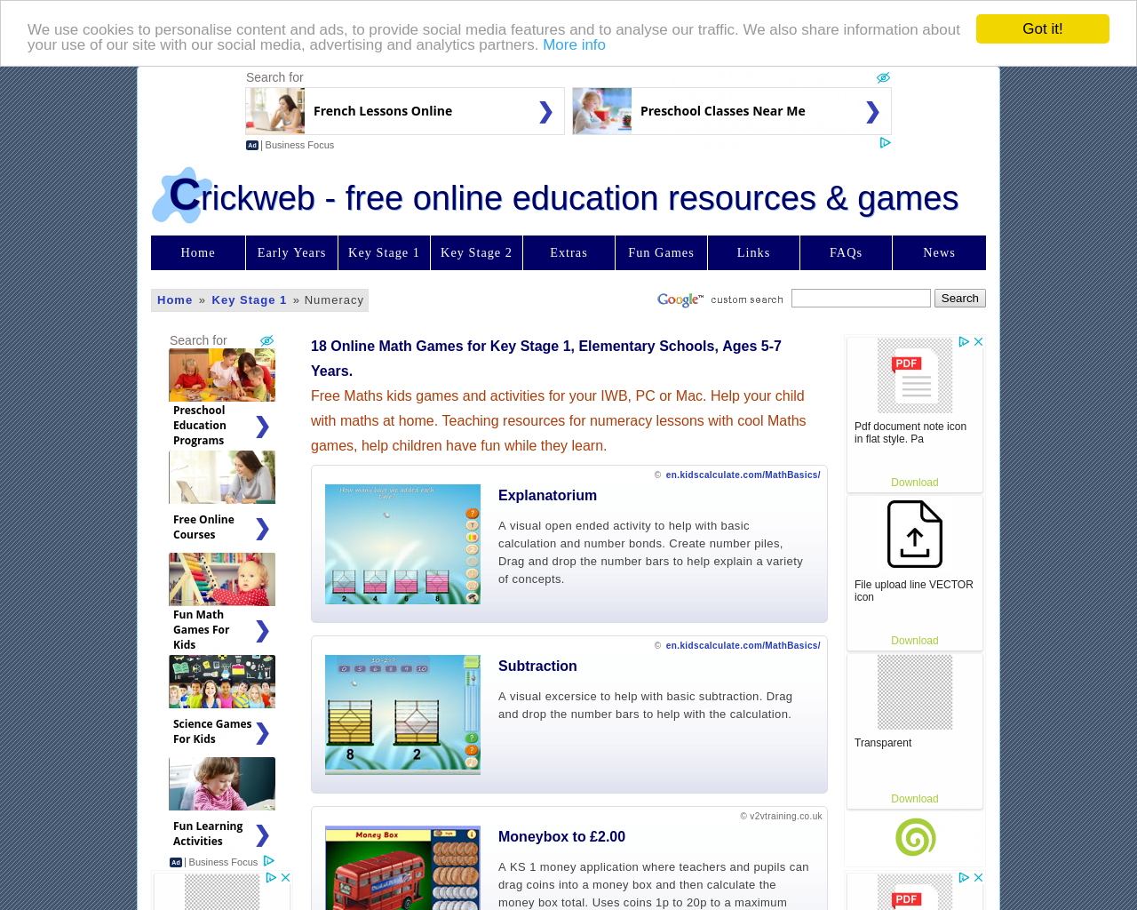 Interactive Sweet Shop (Crick)