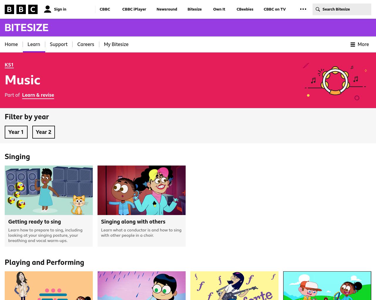 KS2 BBC Bitesize Music