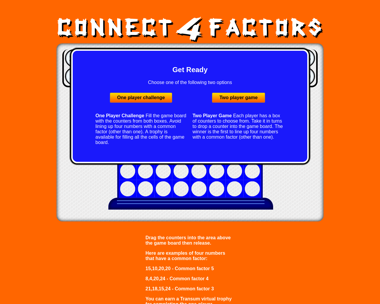 Connect Four Factors