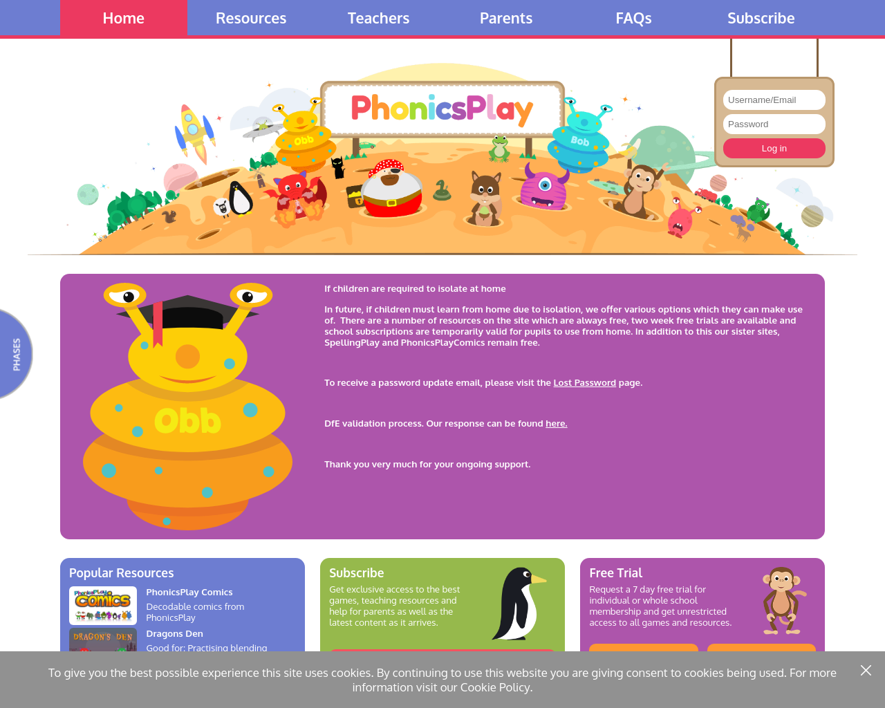 Phonics Play – a variety of phonics games