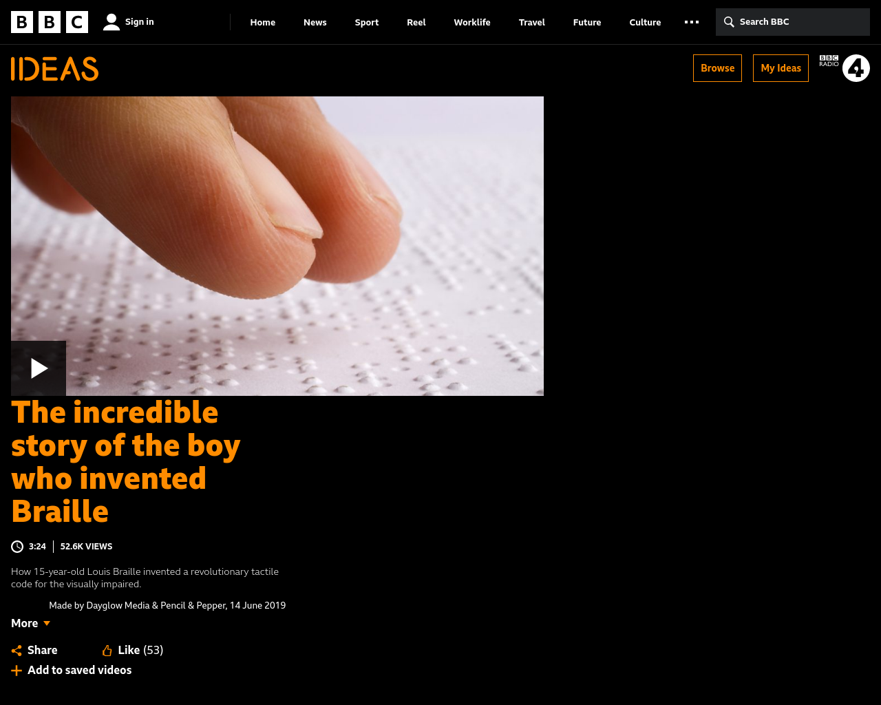 The Incredible Story of the Boy Who invented Braille