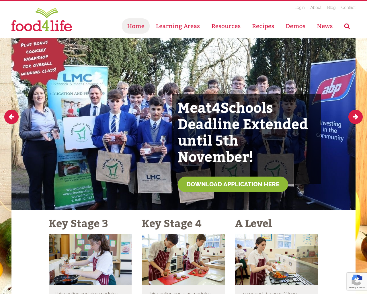 Food4Life Website