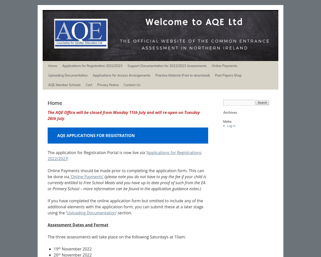 AQE Website