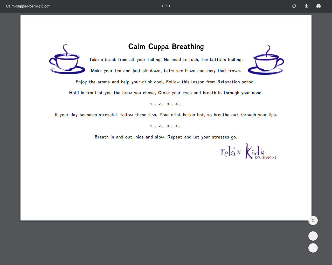 Calm Cuppa