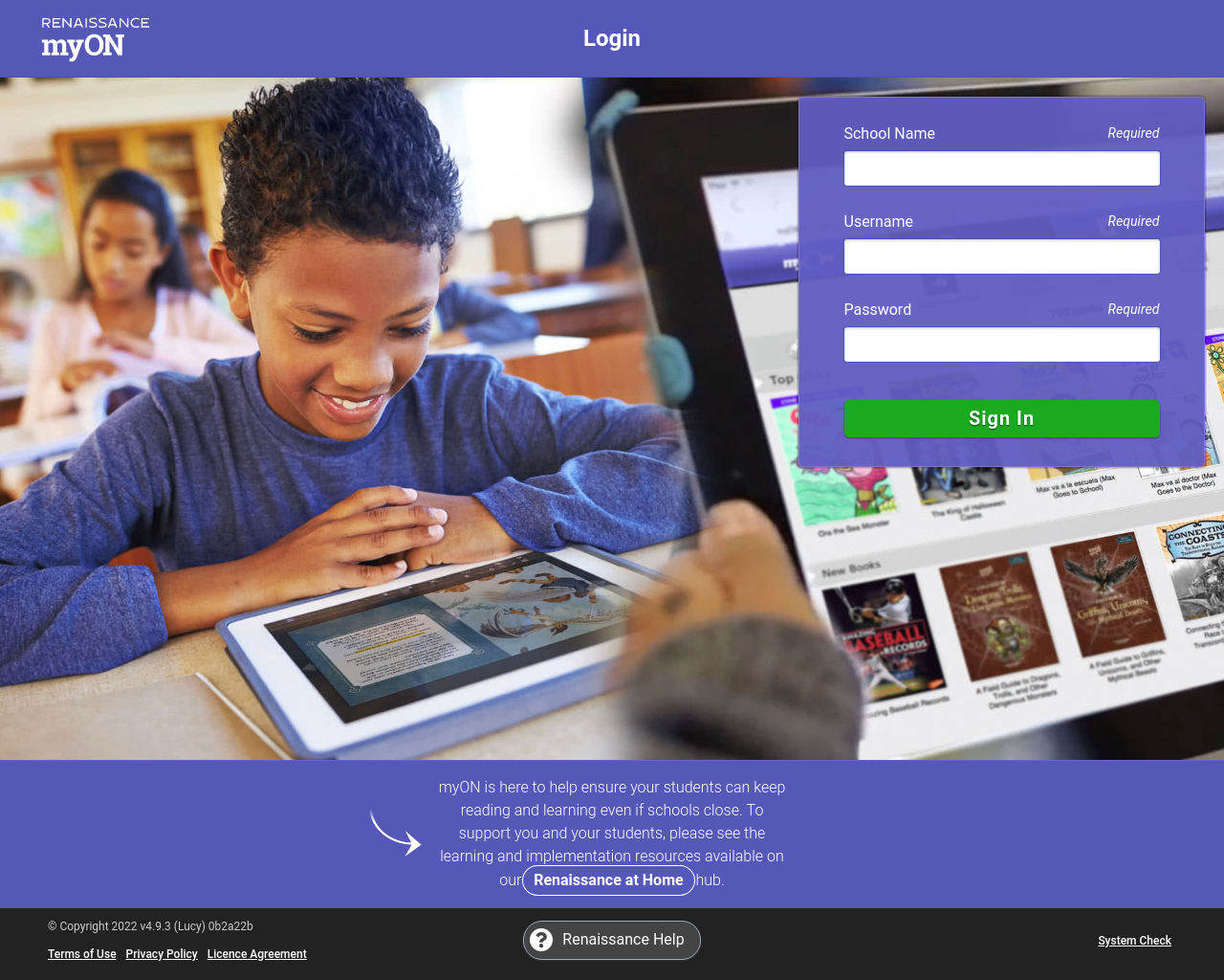 myOn Reading Resources