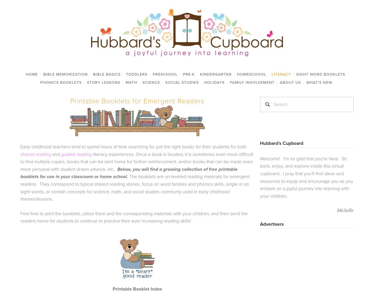 Hubbards Cupboard- Literacy