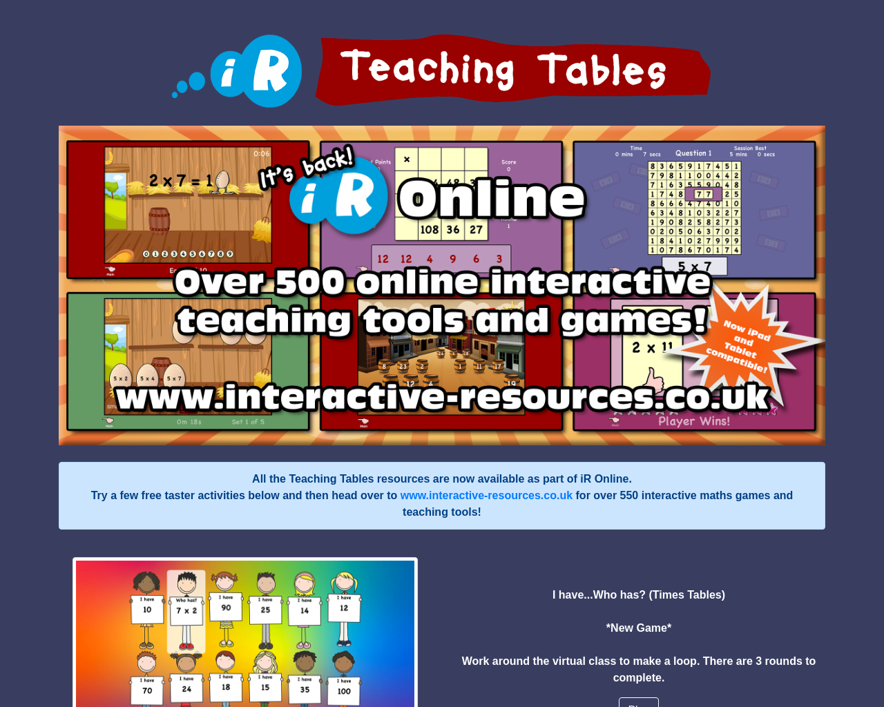teachingtables.co.uk