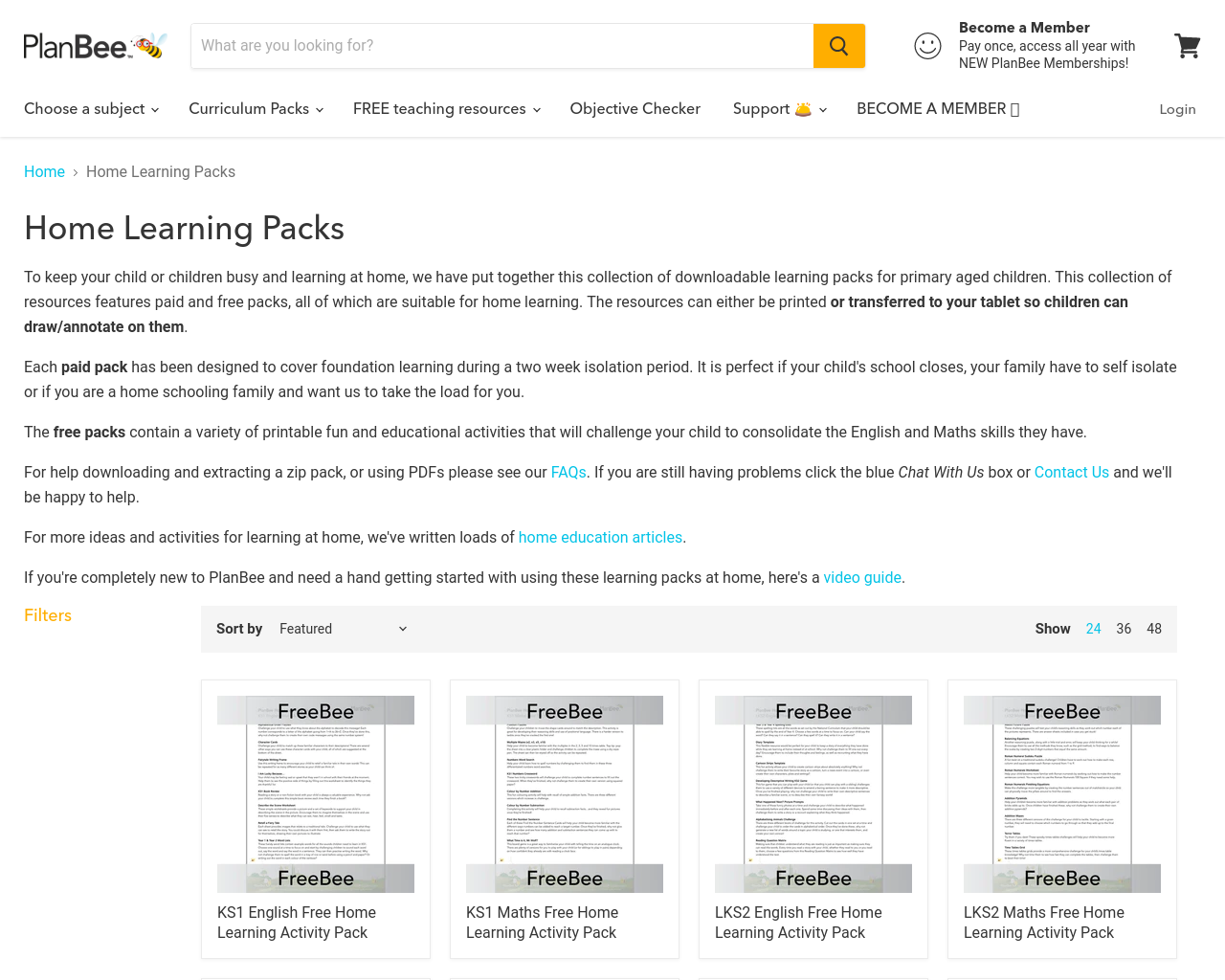 Free Maths & Literacy Resources from PlanBee