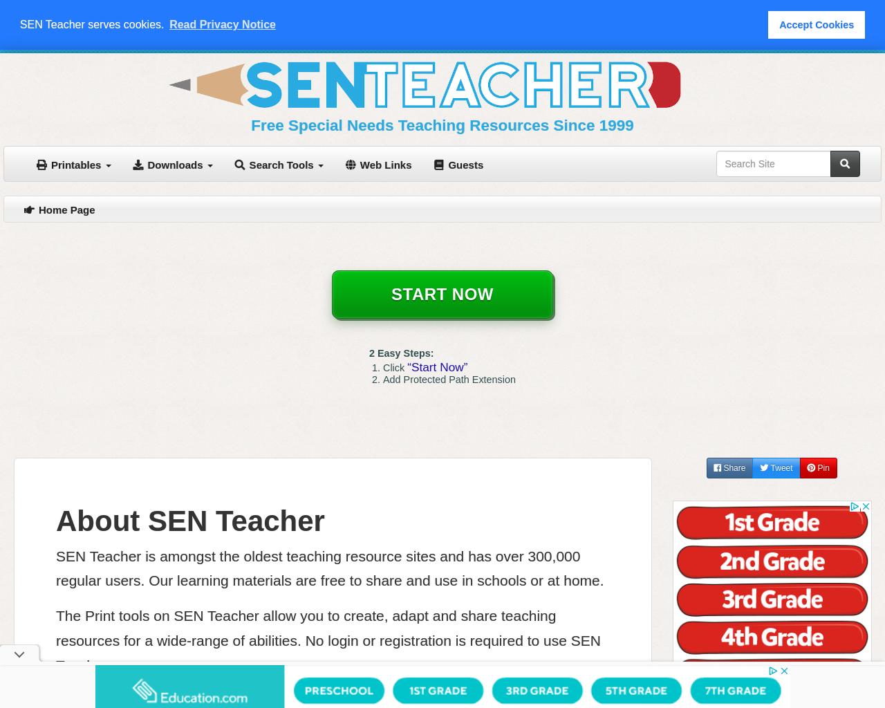SEN teacher website