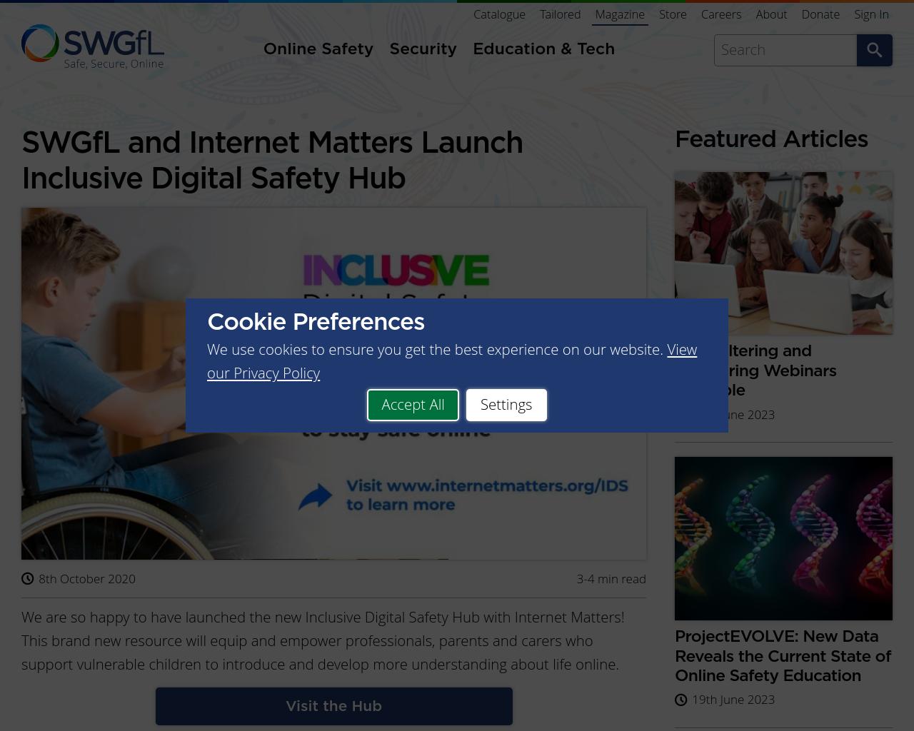 Inclusive Digital Safety Hub
