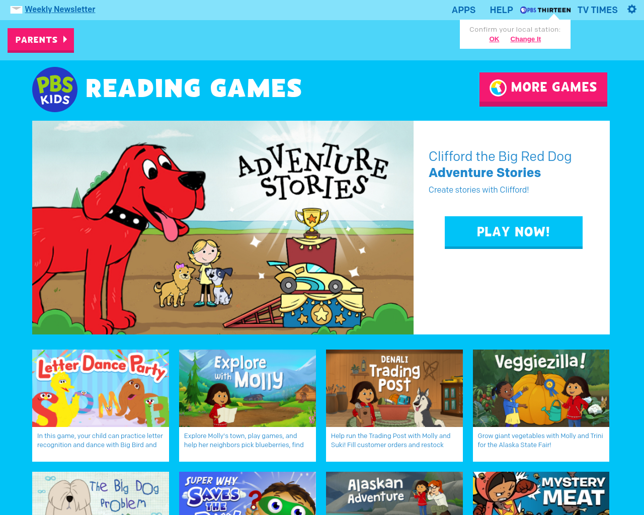 PBS Reading Games