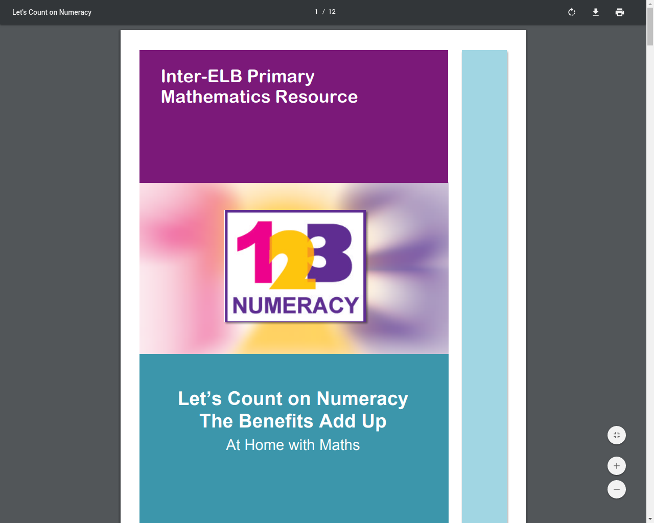 Let's Count on Numeracy