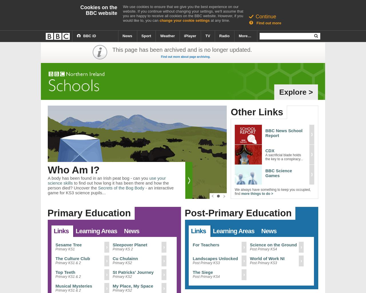 BBC NI Schools Page