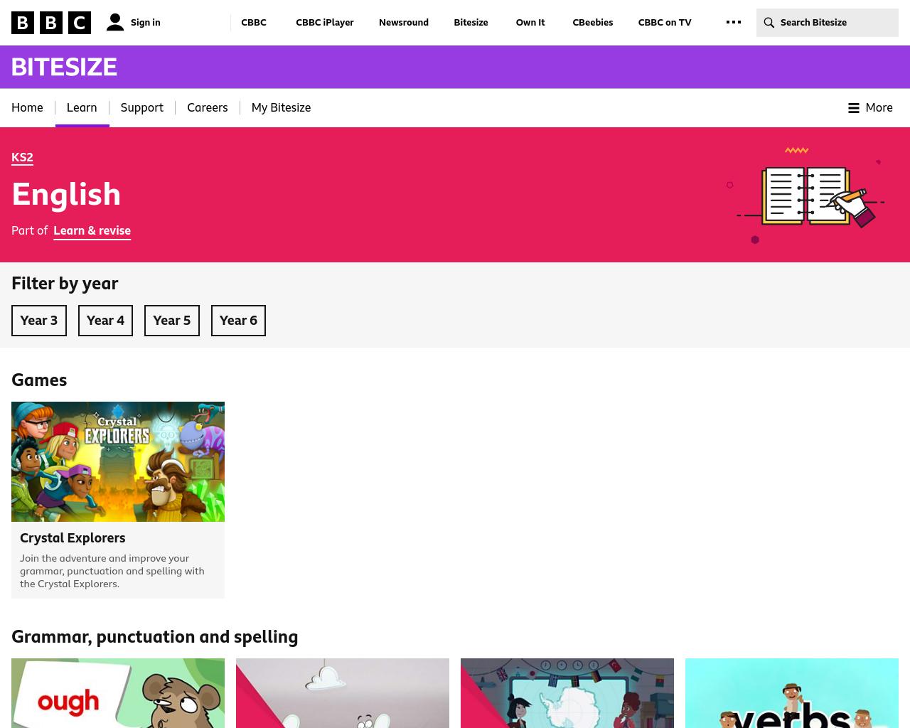 BBC Bitesize KS2 Literacy