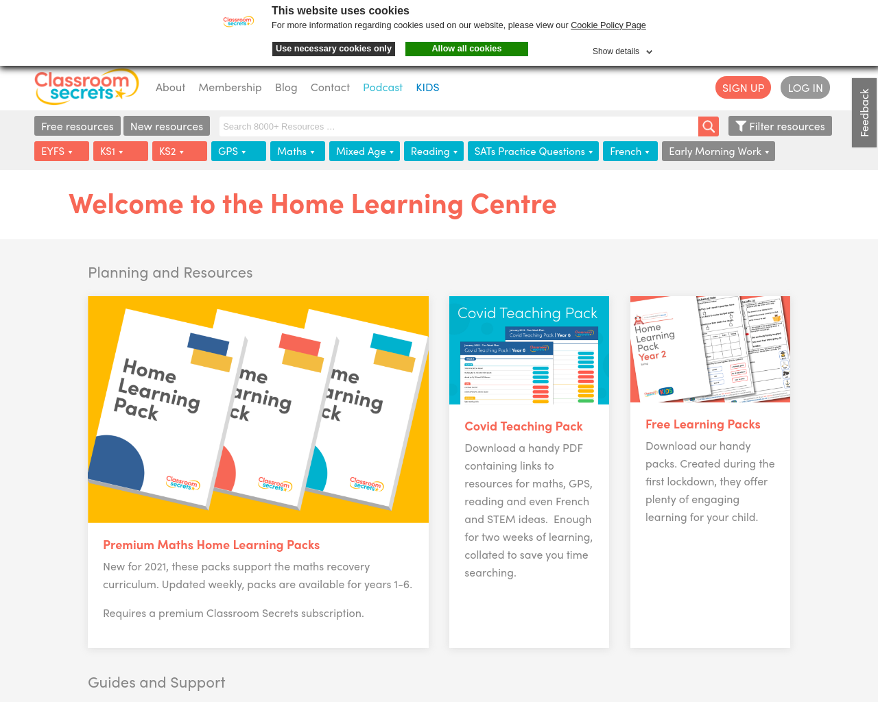 Support for Home Learning