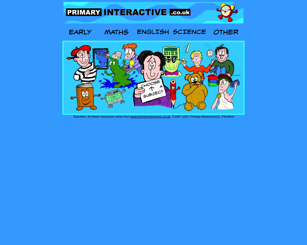 interactive games for all subjects aged 4-11years