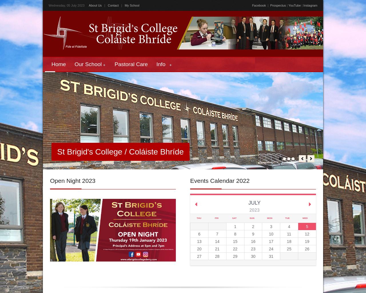 St. Brigid's College Website