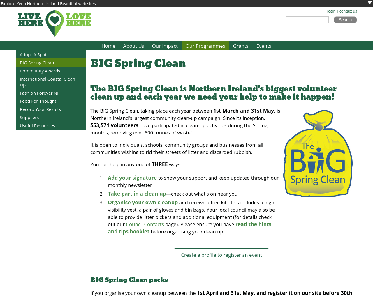 Big Spring Clean NI