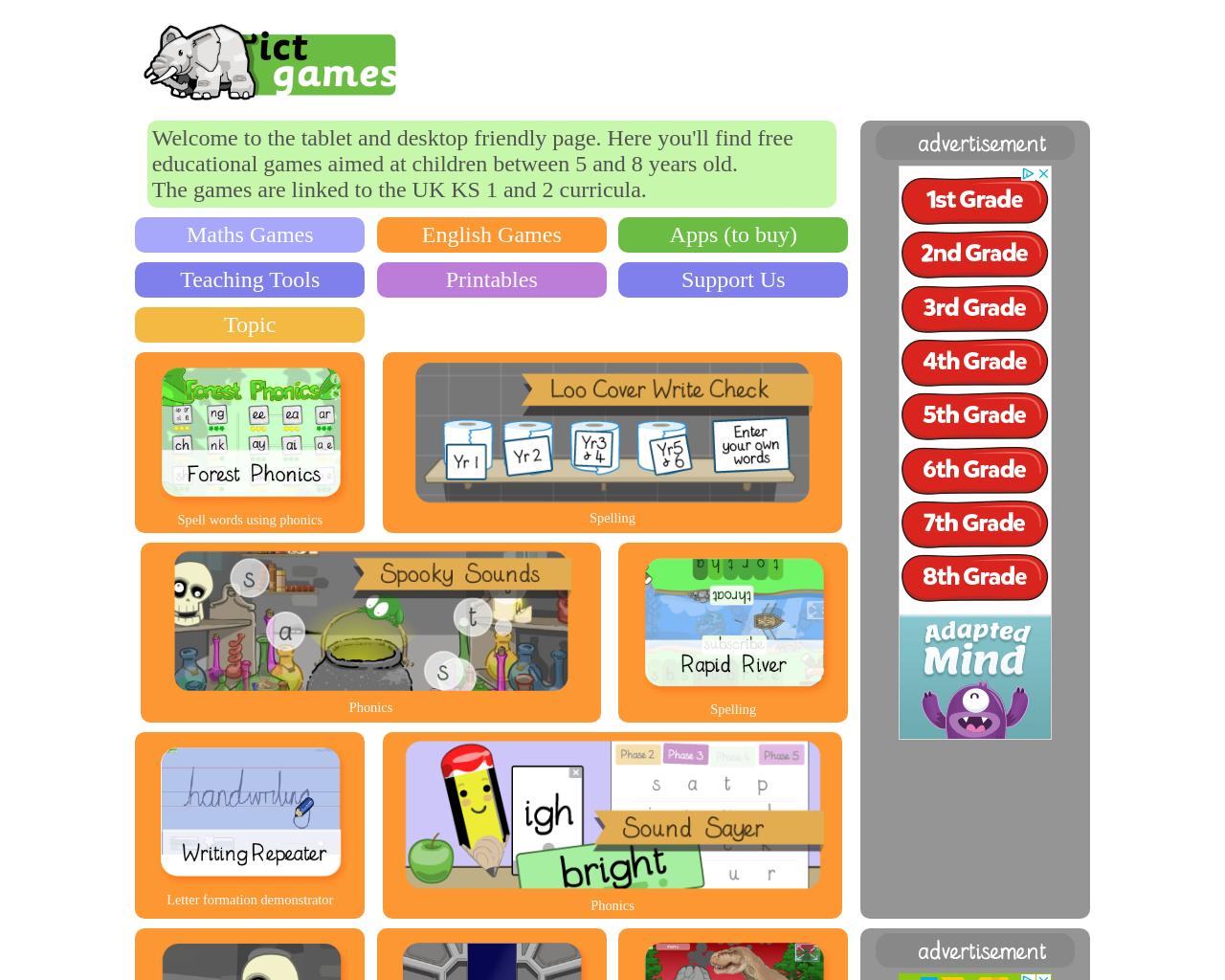 Online Literacy games