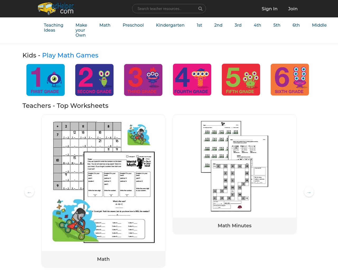 Worksheets & Maths printables