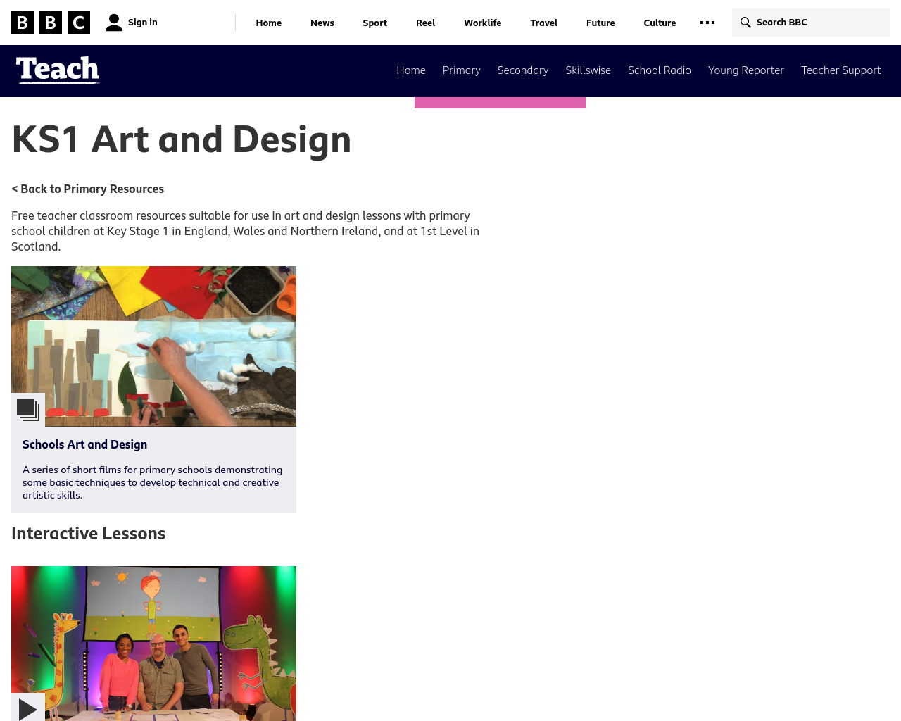 BBC Teach Art