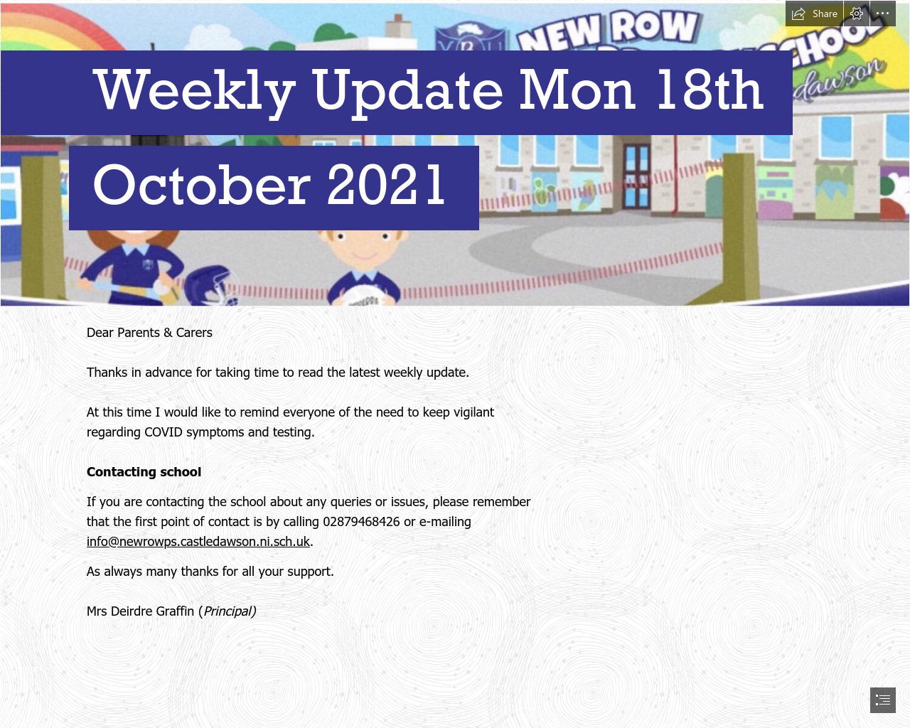 Weekly Update 18th October 2021