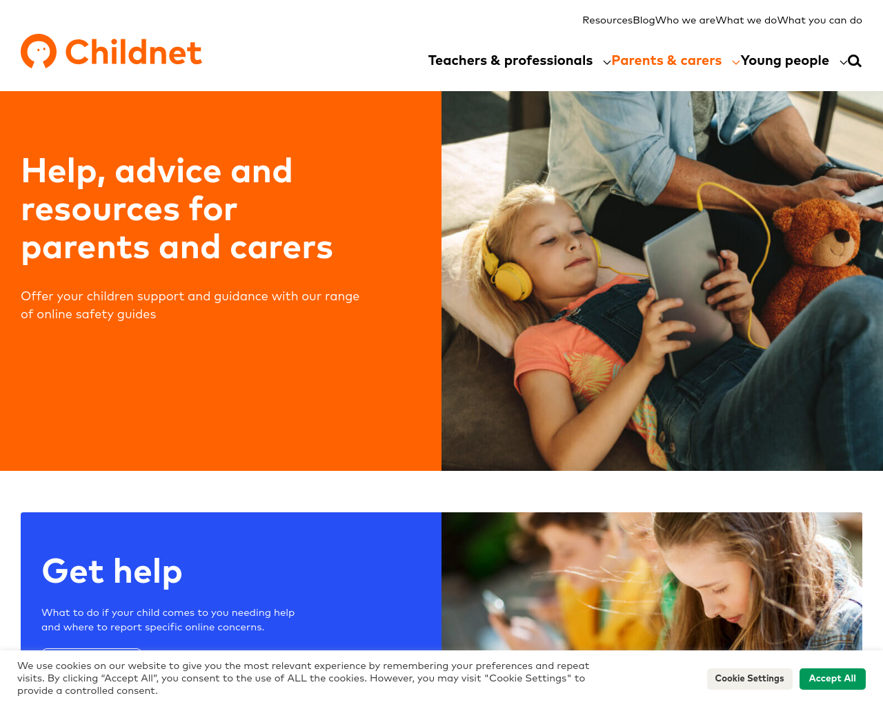 Childnet resources for parents and carers