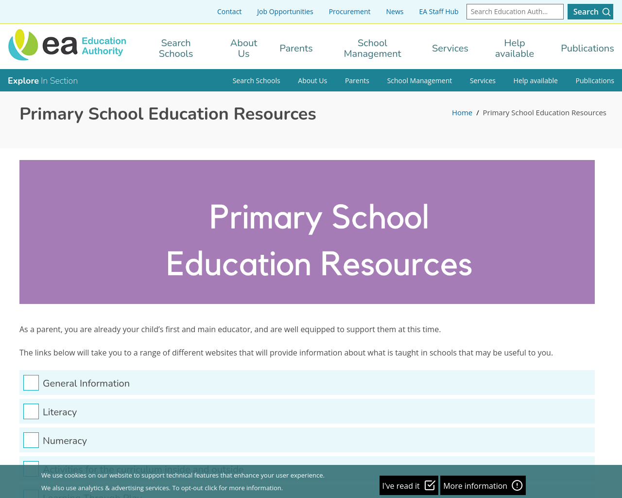 EA Primary Resources