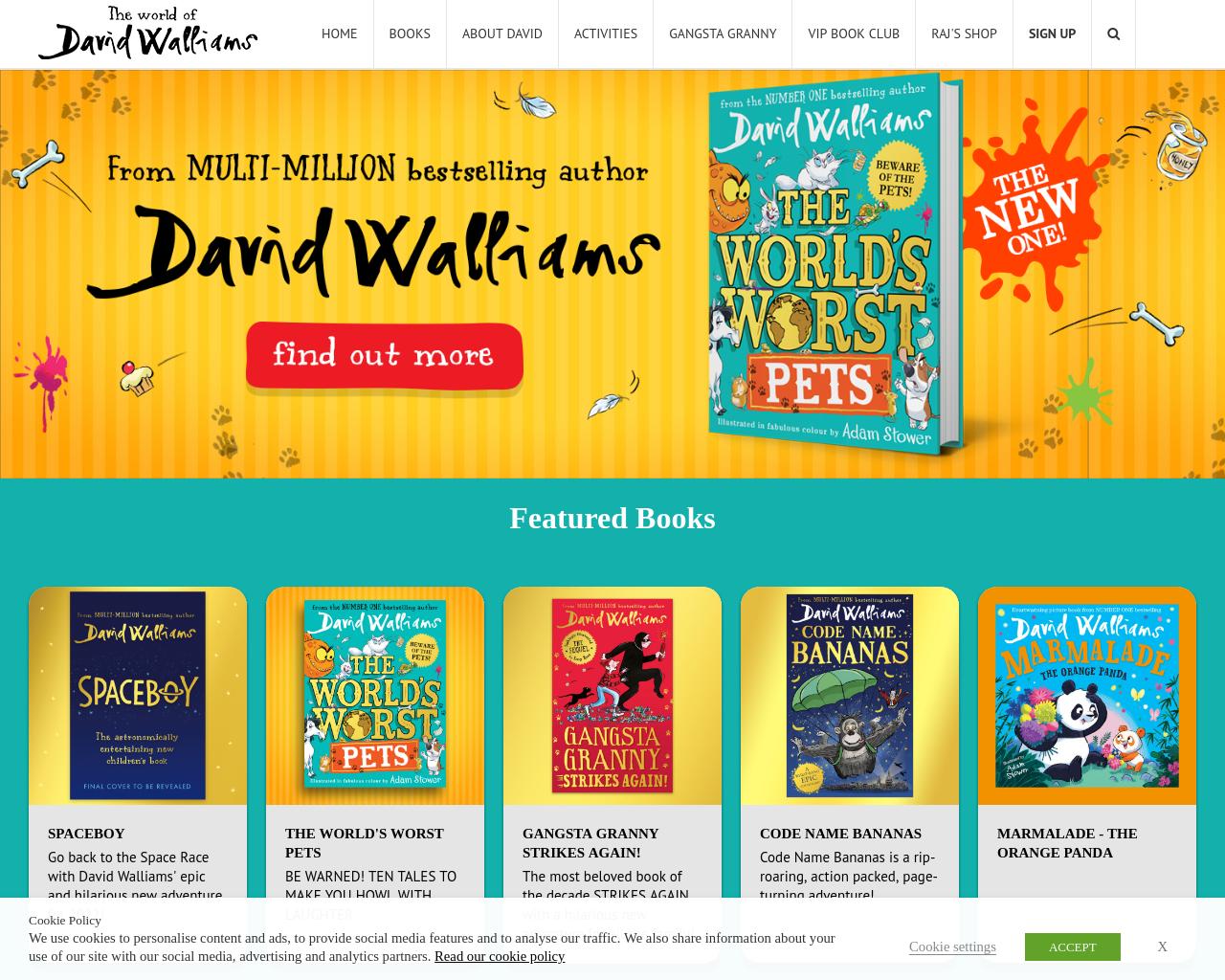 David Walliams stories