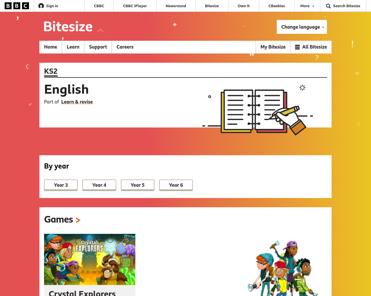 BBC Literacy games