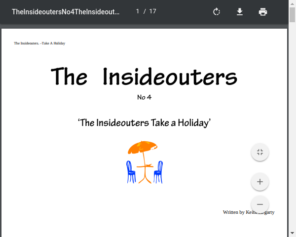 The Insideouters on Holiday! No 4 by Andrew Hegarty