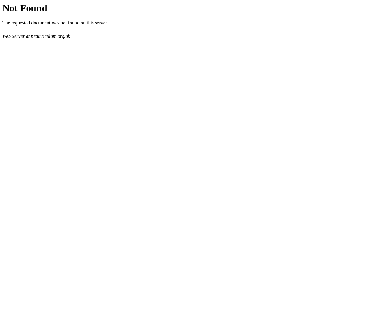 Northern Ireland Curriculum