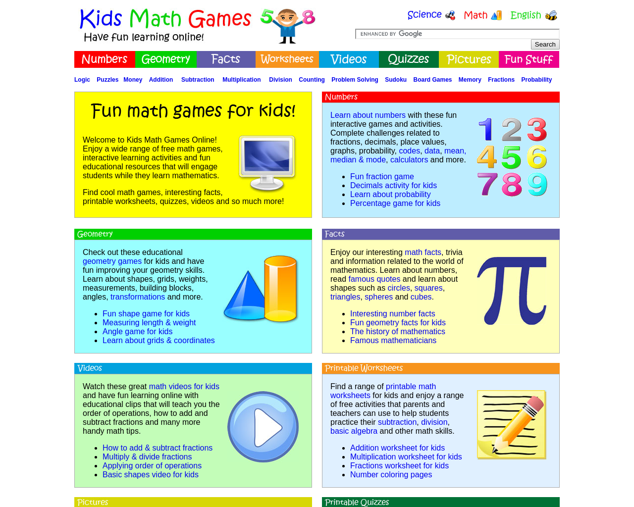 Fun Maths games