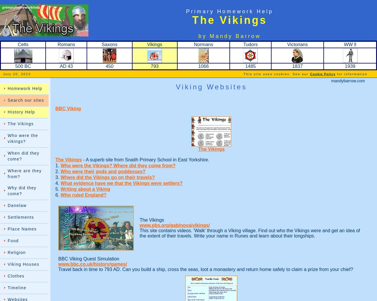 Primary Homework - Vikings