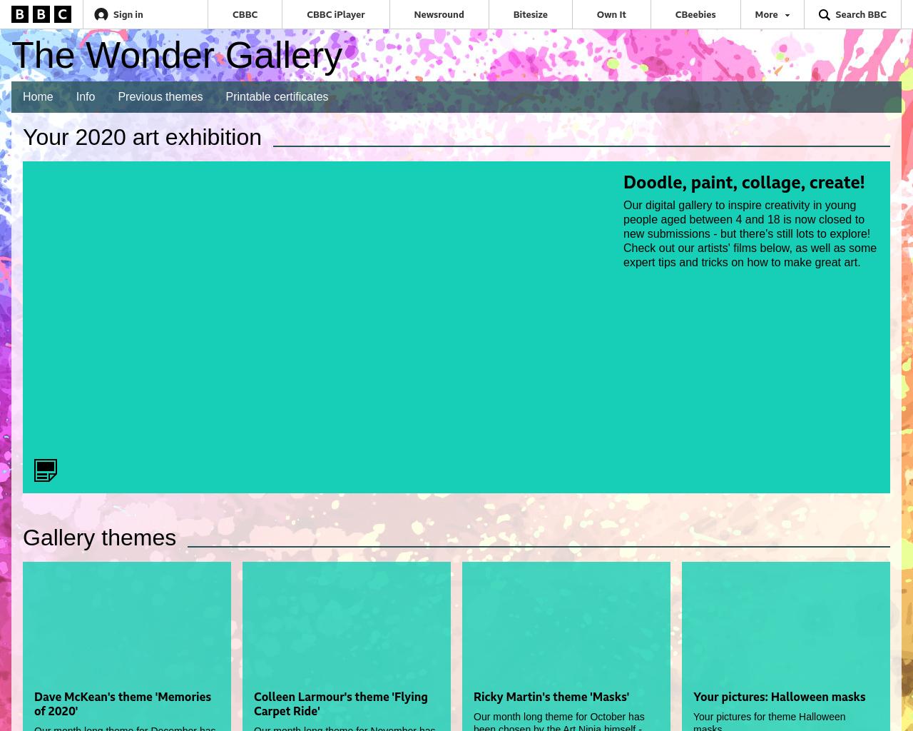 BBC Wonder Gallery Competition