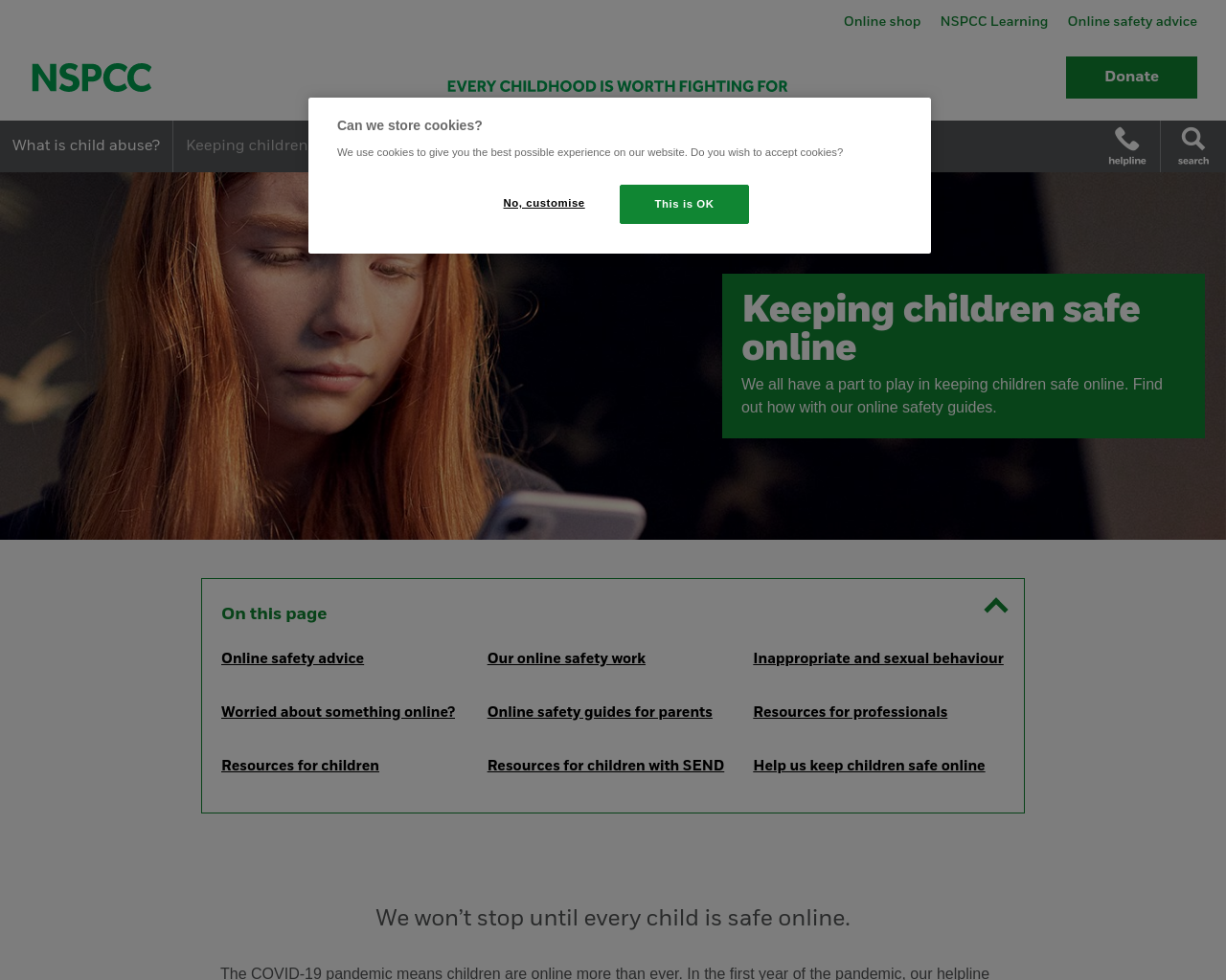 NSPCC & INTERNET SAFETY