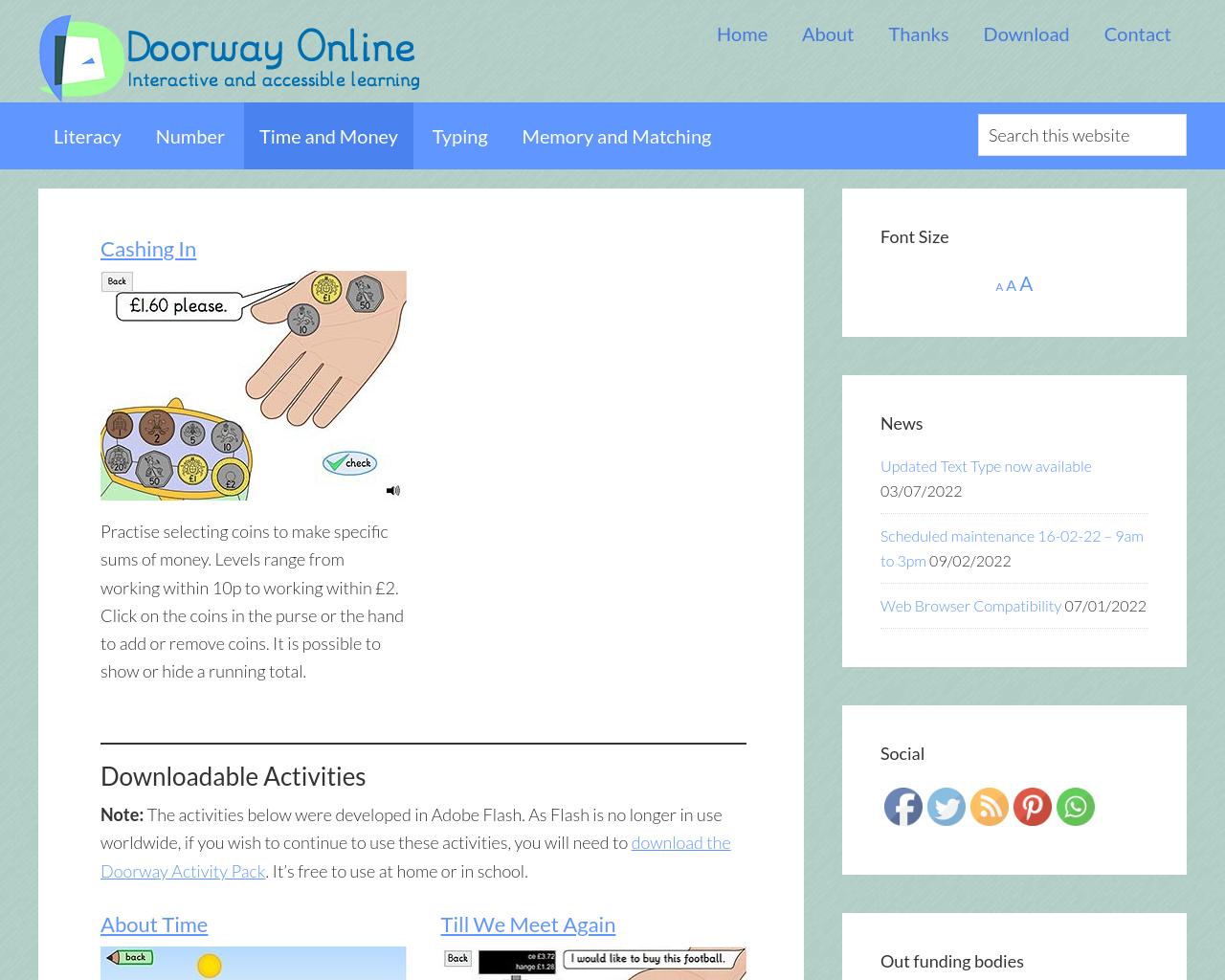 Doorway Online Time and Money