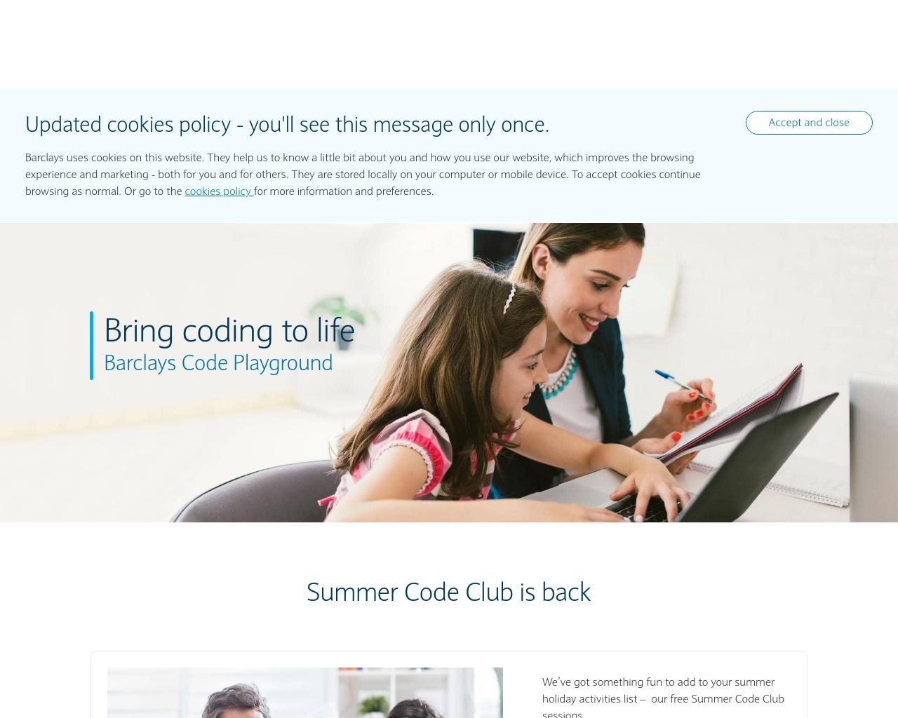 Barclays Code Playground