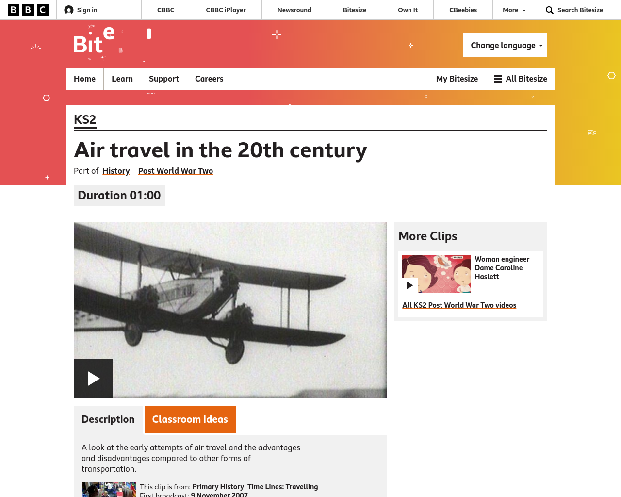 Flight BBC Bitesize