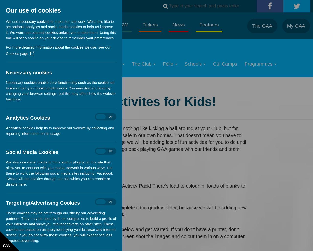 GAA Activities For Kids
