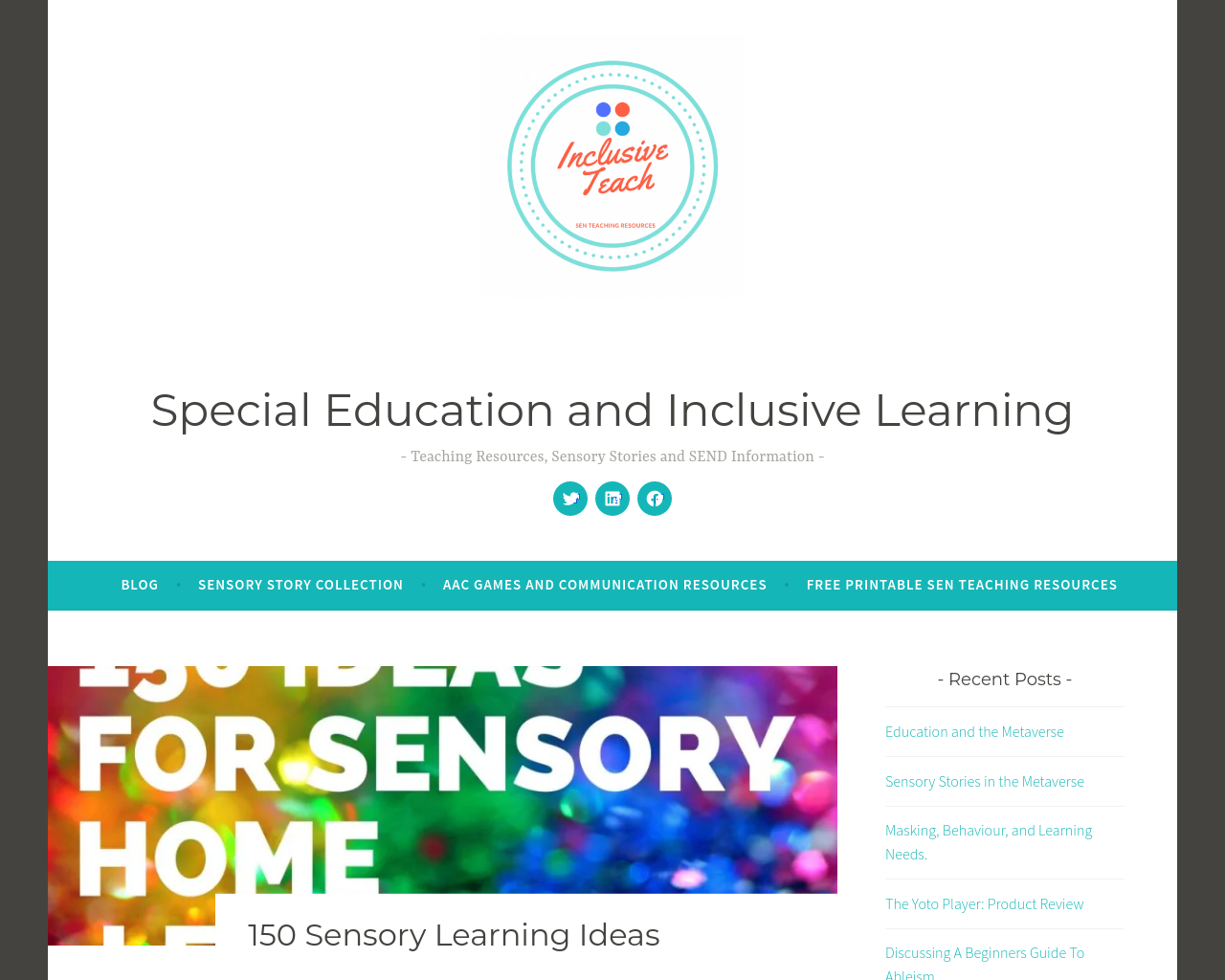 Sensory Learning Ideas