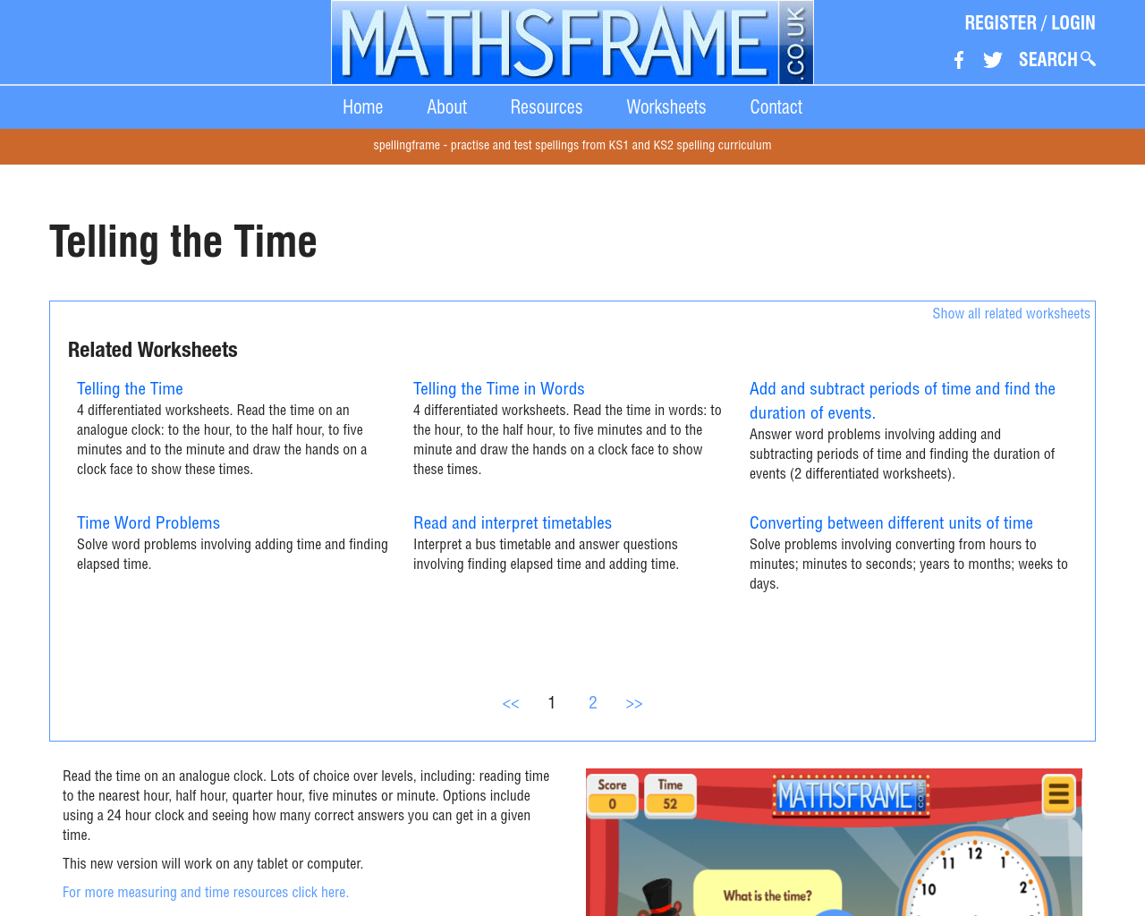 Reading/Matching Times