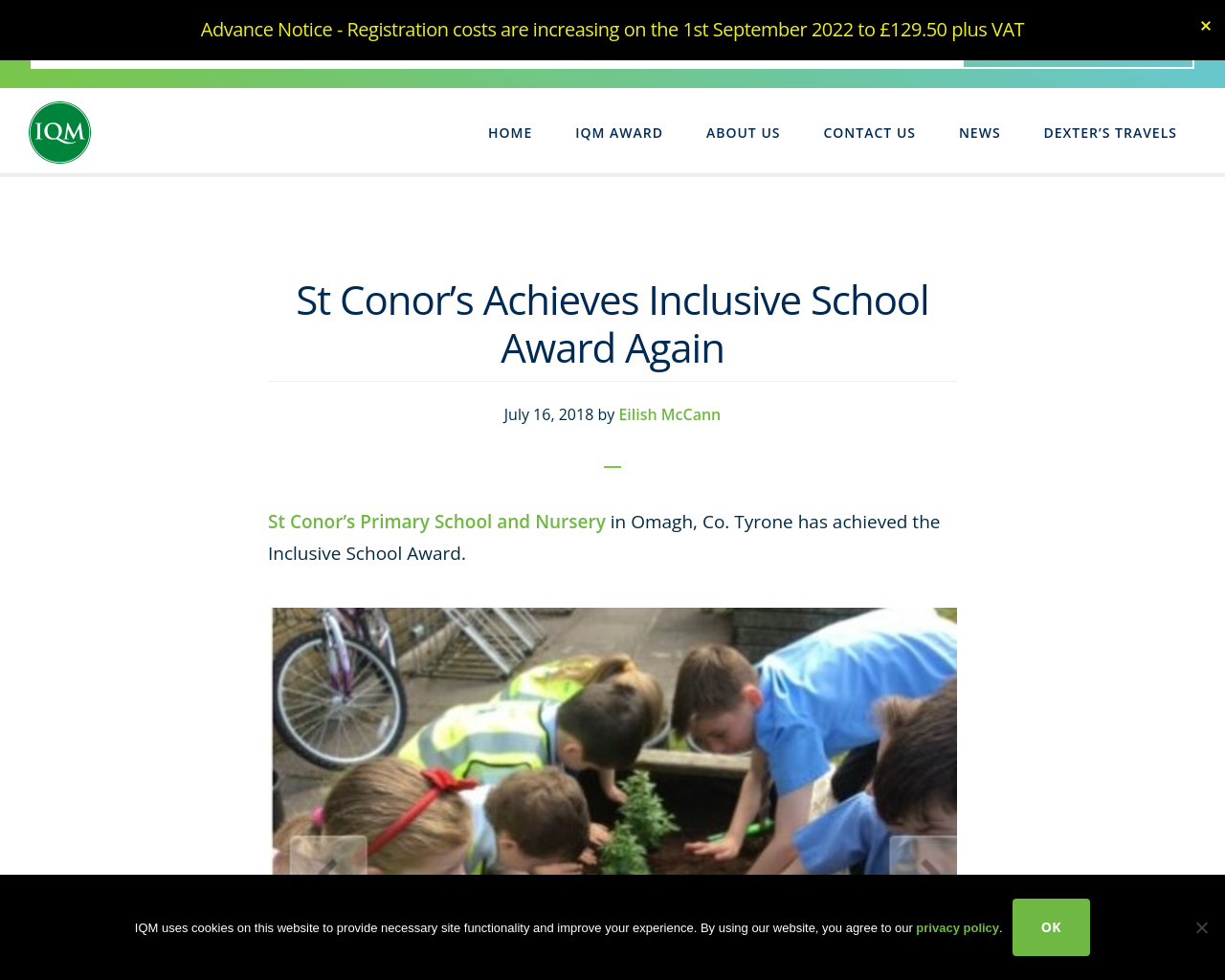 St Conor's Primary School and Nursery in Omagh, Co. Tyrone has achieved the Inclusive School Award.