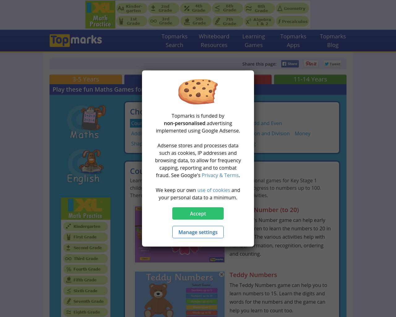 Topmarks Maths Games – P1 – P7