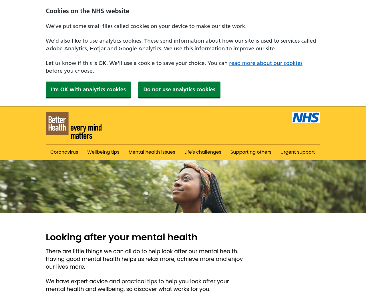 NHS Mental Health Support