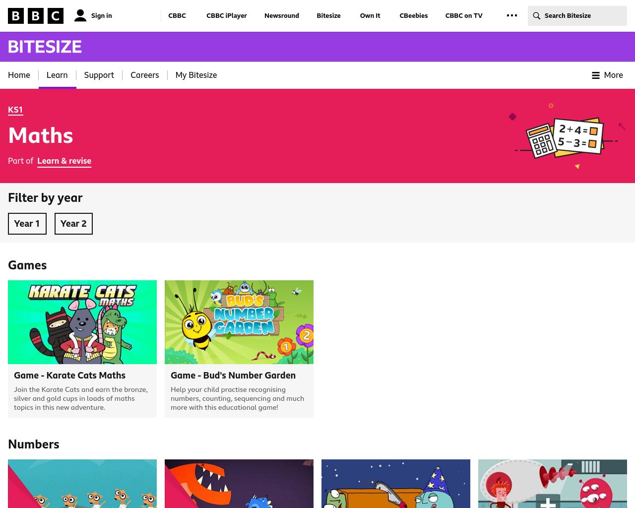 BBC Bitesize Numeracy