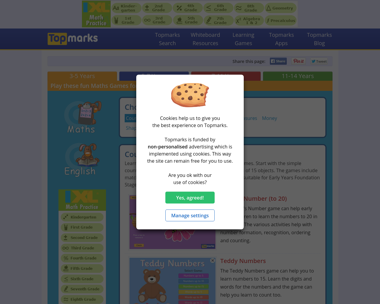 Topmarks – a variety of counting games